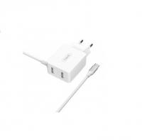 USB зарядний пристрій HAVIT HV-H144 з Type-C кабелем