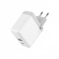 Быстрое зарядное устройство HAVIT HV-H116 USB+Type-C, QC3.0
