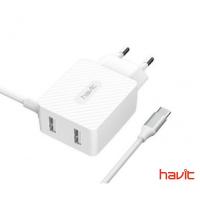USB Подвійний зарядний пристрій HAVIT HV-H142 з Micro USB кабель