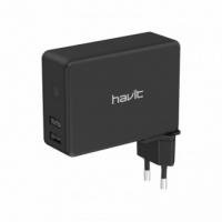 Зарядное устройство 3в1 HAVIT HV-H147U 2USB+Wireless+РowerBank 4500mAh