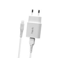 USB  зарядний пристрій HAVIT HV-ST901 з Lightning кабелем